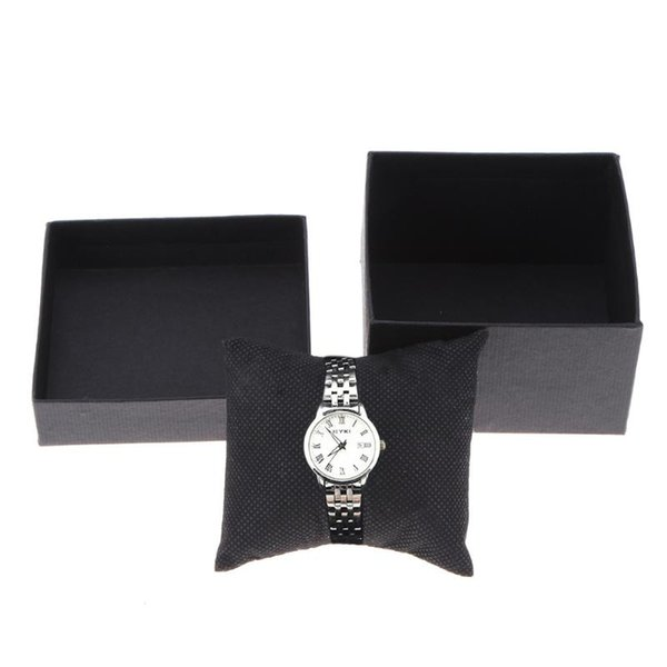 Fashion Black Storage Box Watch Ladies Dress Watches Jewelry Ring Earring Holder Display Storage Gift Case Female Clock Boxes