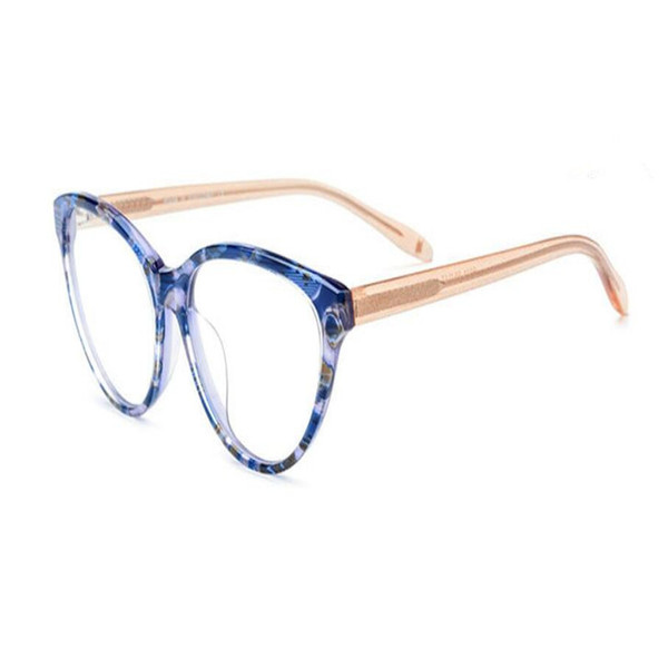 MONGOTEN Retro New Fashion Unisex Full Rim Acetate Optical Eyeglasses Frame Clear Lens Brand Design Myopia Eyewear Goggle Frame