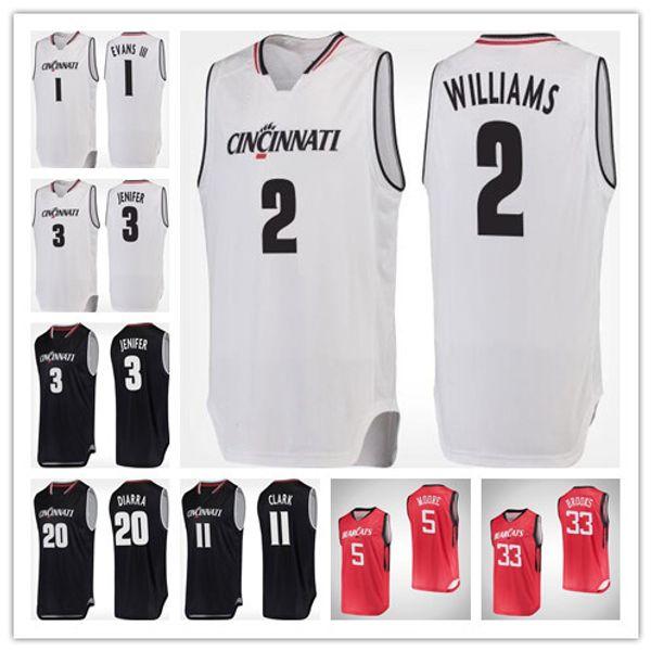 timeless design 20521 a942e 2019 Cincinnati Bearcats 15 Cane Broome 22 Eliel Nsoseme 31 Sam Martin 3  Justin Jenifer 1 Jacob Evans 5 Trevor Moore College Basketball Jersey From  ...