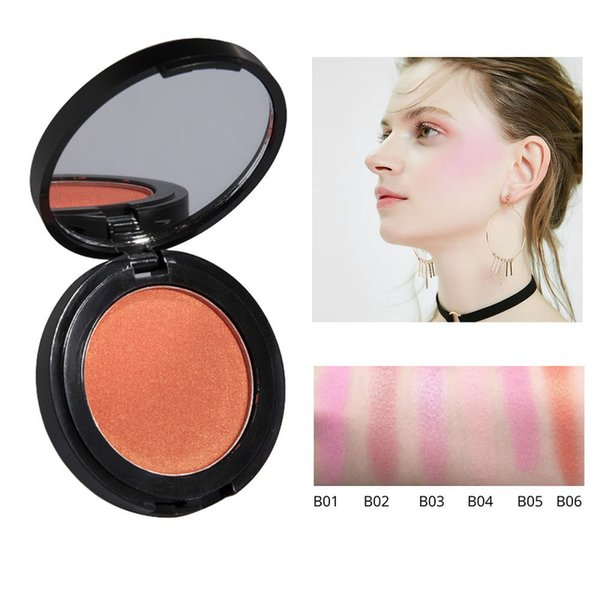 mys brand makeup cheek blush 6 colors single blusher bronzer pressed foundation beauty face makeup blusher tslm1