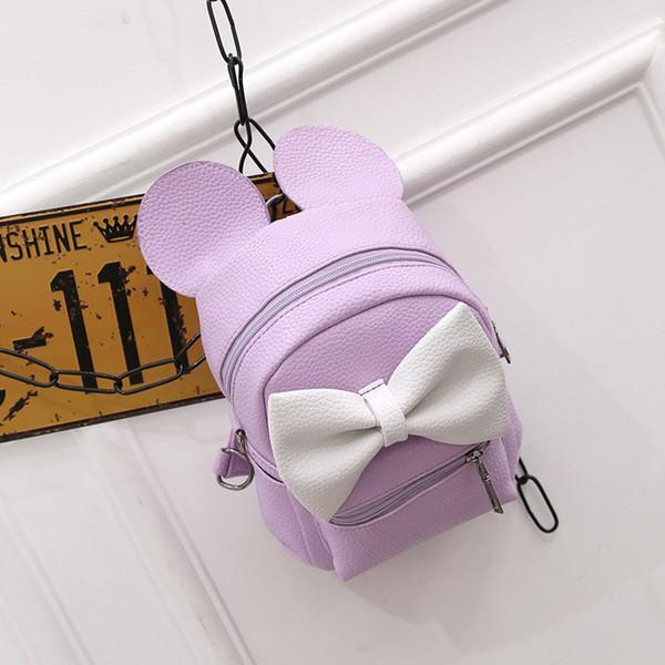 2019 шикарные студенты лето прекрасный мини-рюкзак милый большой лук круглые уши рюкзак с молнией маленькие сумки для девочек