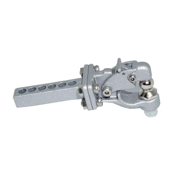Metal Hitch Trailer Hook For 1:10 Scx10 90046 90047 Traxxas Trx4 Rc Crawler Car(Silver)