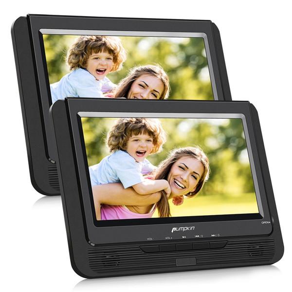 Citrouille 9''Car Têtière double écran lecteur DVD portable Moniteur de voiture 800 * 480 écran TFT LCD Lecteur DVD vidéo Support USB / SD / MMC