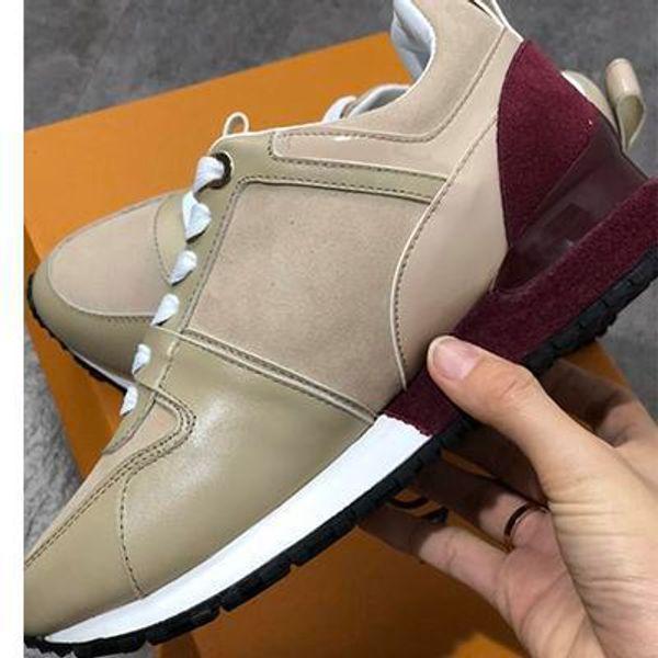 2019 El nuevo cuero de lujo de los zapatos ocasionales de las mujeres zapatillas de deporte del diseñador de los hombres zapatos SS189605 color mezclado manera del cuero genuino