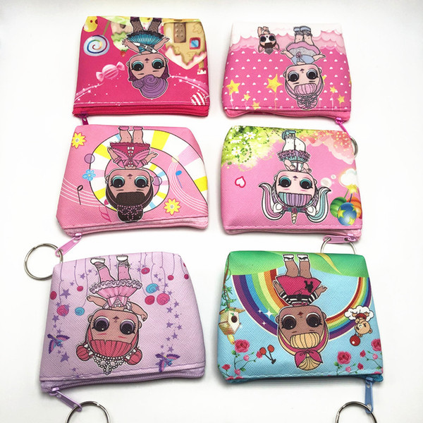 top popular LOL doll Girls Wallet Kids lol dolls Cartoon Party Coin Purse best gift A301 2020