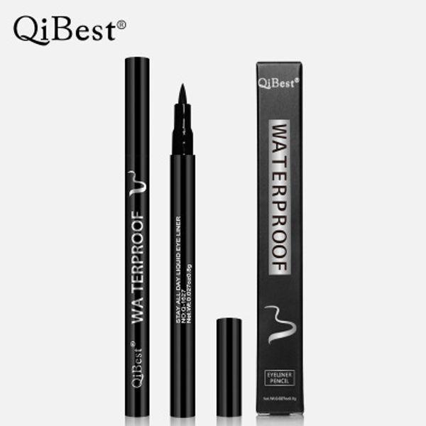 best selling Qibest Black Long Lasting Eye Liner Pencil Waterproof Eyeliner Smudge-Proof Cosmetic Beauty Makeup Liquid Eyeliner Pen Free DHL