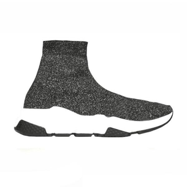 Top designer de moda sapatos casuais meia Speed Trainer Preto Vermelho Triplo Preto Moda Meias Sneaker Trainer sapatos casuais