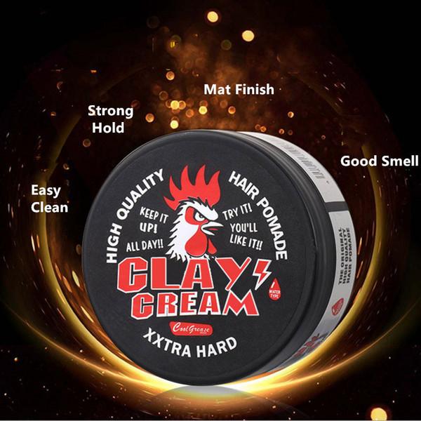 Clay cream mat hair wax 80g stong hold styling hair pomade long lasting low shine make up clay