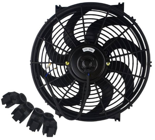 best selling Universal Kit Black 14 inch Slim Fan Push Pull Electric Radiator Cooling 12V