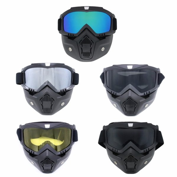 Completely Framed Mask Skiing Glasses Cycling Glasses Windproof Goggles Breathable Removable Mask For Outdoor Sports