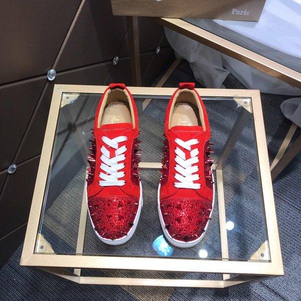2019 году известный роскошный платформы Мужская обувь оригинальный логотип заклепки Высокий Верх Повседневная обувь из натуральной кожи зашнуровать свободного покроя спортивная обувь EUR 38-47
