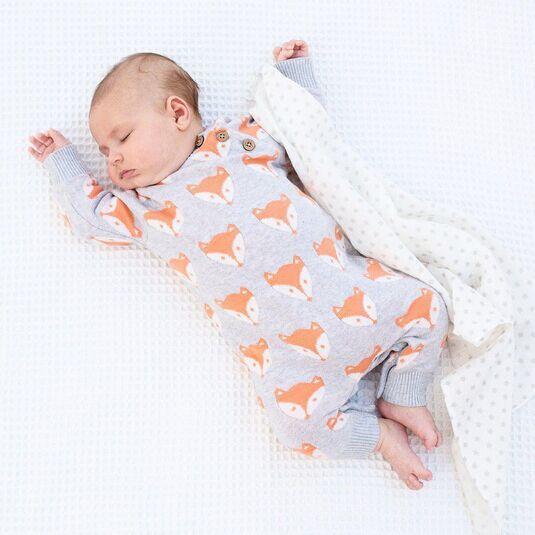 Newborn Baby Girl Boys Romer Suit fox Boutique Clothes Christmas Pajamas Toddler Outfit Jumpsuit Infant Fox Kids Suit Grey Jumper