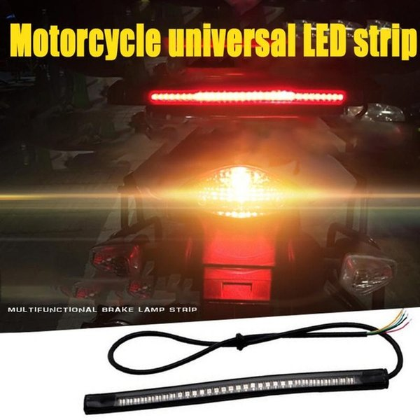 2X 48SMD Universal Motorcycle LED Stripe Stop Lamp Turning Left/right Waterproof Tail Brake Strip Light