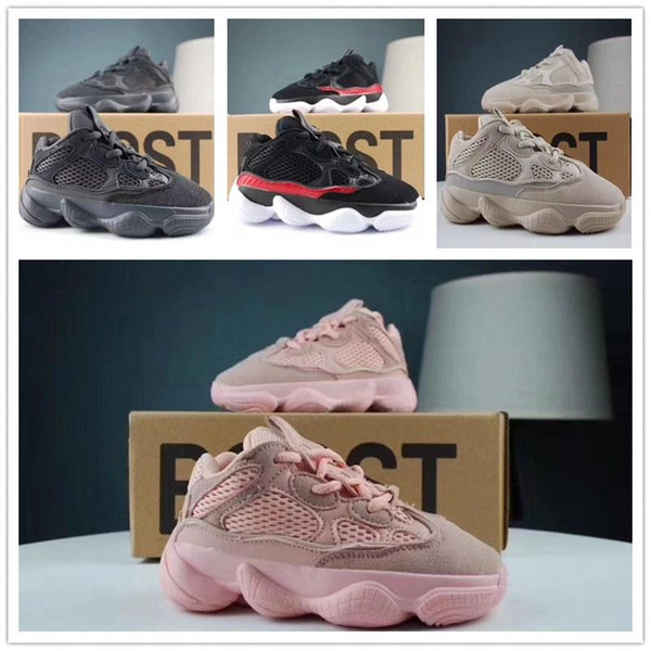 Новая Детская обувь Kanye West V2 волны бегун 700 девушки кроссовки 500 ребенка Детского тренера мальчик кроссовки детей спортивной обувь black3657 #
