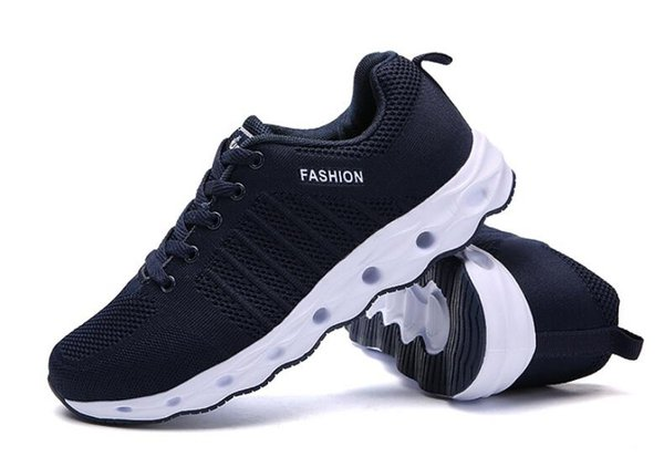 Hot sale 2019 spring new men's fashion wild flying line cushion running shoes shock absorption breathable casual shoes size:39-44