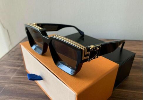 2019 Luxury MILLIONAIRE M96006WN Sunglasses full frame Vintage designer sunglasses for men Shiny Gold Logo Hot sell Gold plated Top