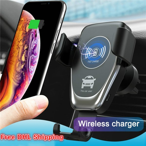 best selling C12 Wireless Car Charger 10W Fast Wireless Charger Car Mount Air Vent Gravity Phone Holder Compatible for iphone samsung LG All Qi Devices