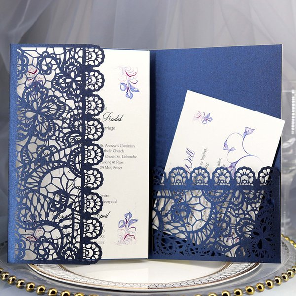 New Laser Hollowing Out Invitation Cards Wedding Invitations Greeting Card Customize Business Birthday Meeting Greeting Card Birthday Card Designs