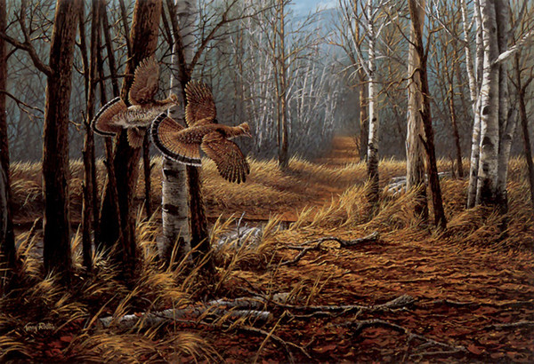 Landscape Art Old Logger's Trail ,Oil Painting Reproduction High Quality Giclee Print on Canvas Modern Home Art Decor