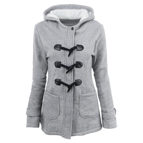 2019 hiver chaud vestes de col de fourrure femmes nouveau bouton d'avertisseur sonore long vers le bas femmes manteau parka plus hoodies parka Taille femme