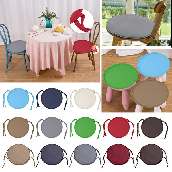 Urijk 1PC 13 Color Non-slip Sofa Decorative Seat Cushion Soft Pillow For Chair Cushion Padchair Chair Round Seat Pad 36x36cm