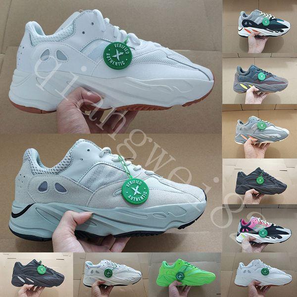 С Коробкой 700 Wave Runner Mauve Inertia Кроссовки Kanye West Дизайнерская Обувь Мужчины Женщины 700