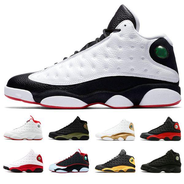 13s Herren Basketballschuhe Er Got Game Black Cat Playoffs gezüchtet Altitude Olive 13s Herren Sport Sneakers Love Respect Schwarz DMP Barons Schuhe