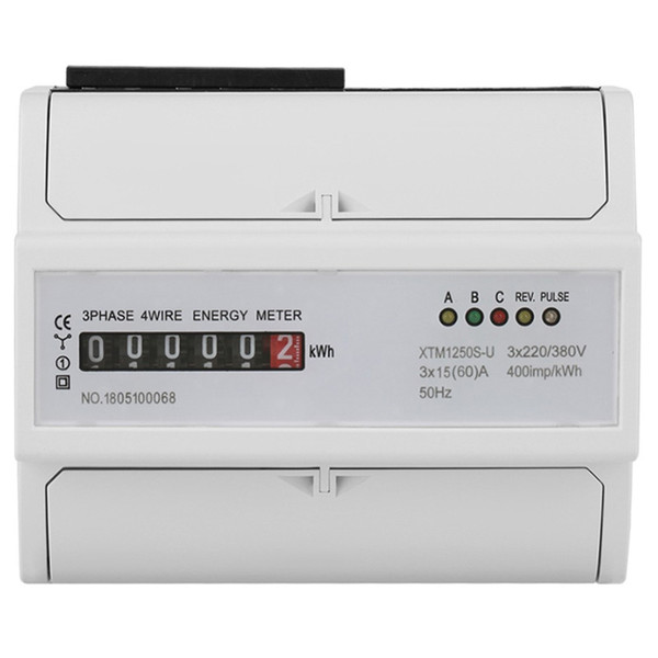 Compre Kwh Meter 3 X 220V / 380V Digital 3 Phase 4 Wire 7P Din Rail on kv meter, co2 meter, btu meter, keg meter, electric meter, landis gyr meter, bike trainer with power meter, kilowatt meter, frequency meter, temperature meter, inductance meter, phoenix meter, power factor meter, ppm meter,