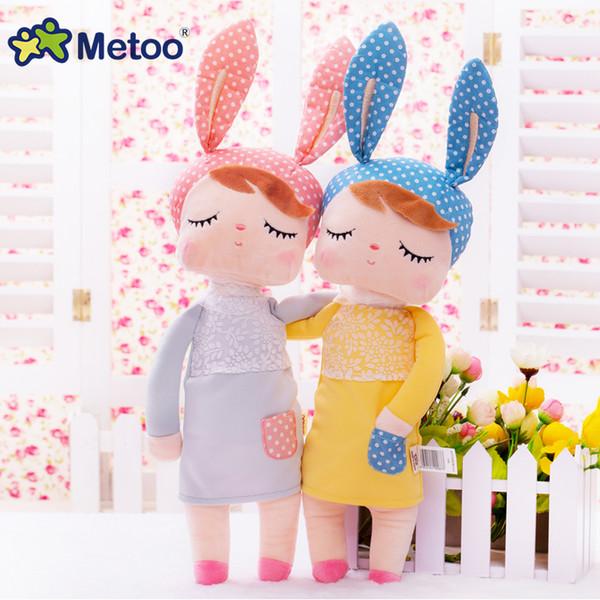 Metoo boneca de pelúcia animais brinquedos infantis para meninas crianças meninos kawaii bebê brinquedos de pelúcia dos desenhos animados angela coelho macio