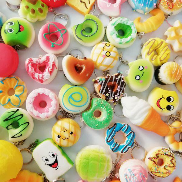 30 стилей Kawaii Squishy Rilakkuma Пончик Мягкие Squishies Симпатичные ремешки для телефона Медленно растущие Squishies Jumbo Buns Bag Подвески для телефонов