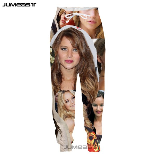 Jumeast Smiling Woman 3D Print Pants Funny People Cute Expressions Men/Women Loose Style Novelty Casual Long Pants Cool Couples