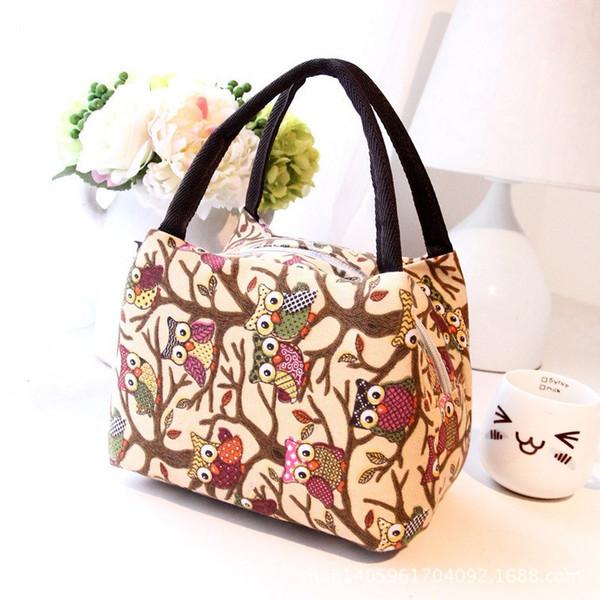 Tote Picnic Lunch Cool Bag cooler Box 23X15X15cm Oxford fabric Zipper Handbag Pouch Kitchen storage bag Portable Lunch