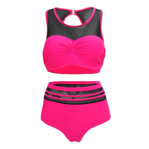 Summer Plus Size Bikini Set For Women Sexy Halter Top Push Up Bikini Large Size Swimwear XXL 5XL Beach Bathing Suit