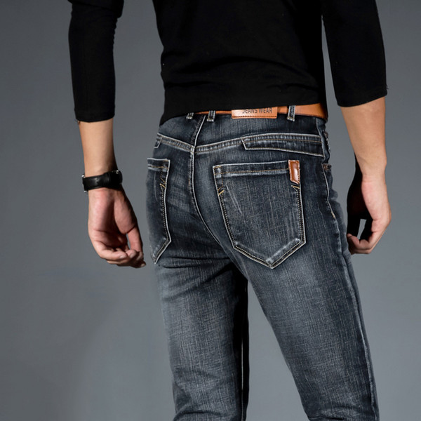 Mens Jeans Jean Homme Jogger Biker Masculina Slim Pants Pantalon Vaquero Hombre Hip Hop Baggy Casual Harem Distressed Designer Y190510