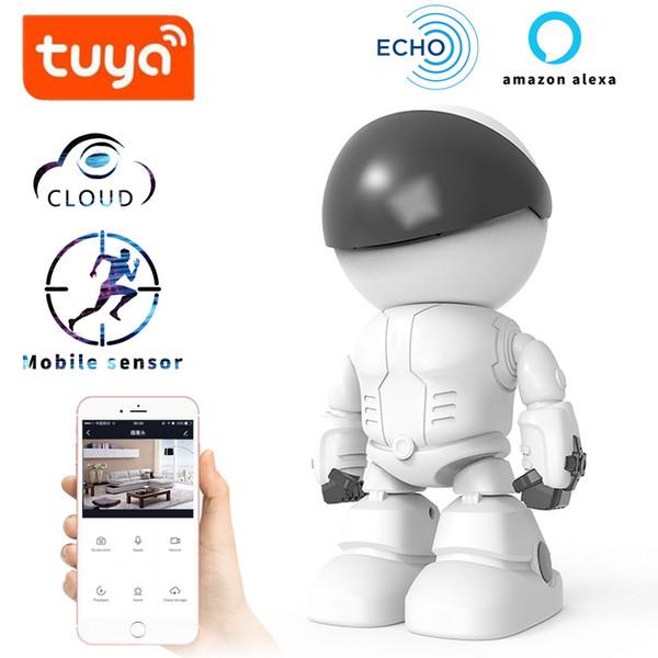 TUYA alexa echo Baby Monitor wifi 2 vías de audio Robot Cámara 1080P HD Red IP Visión nocturna Detección de movimiento SMART Camera Pet