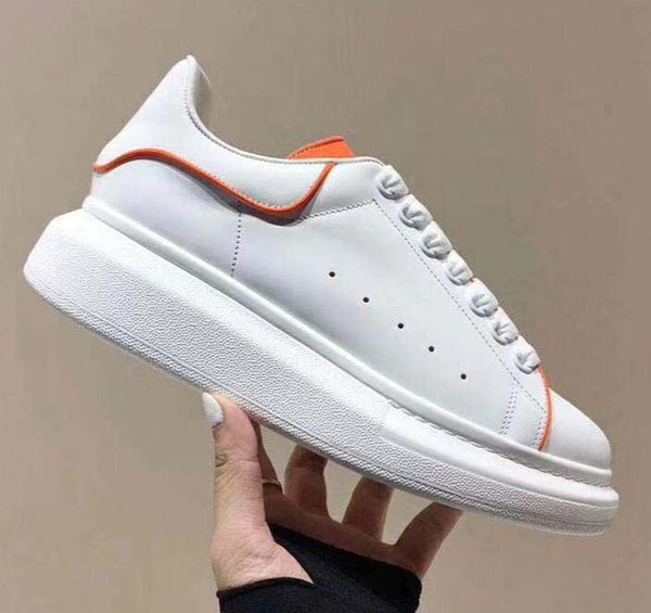 Top Quality Fashion Designer Women Shoe 3M Reflective white leather casual shoes girl men black gold red comfortable flat sneakers 12