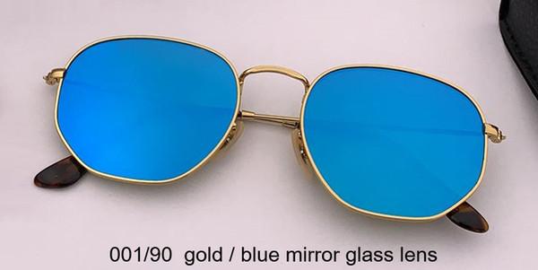 001/90 الذهب / الأزرق عدسة زجاج المرآة