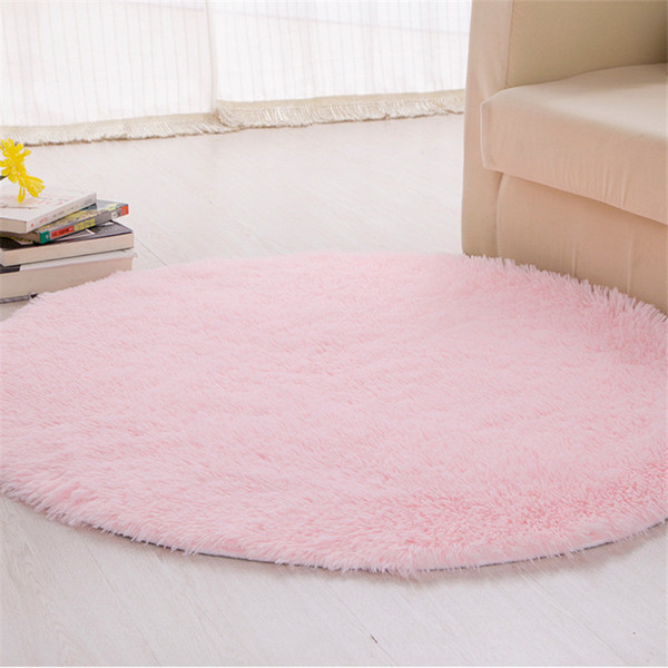 Round Carpet Washable Silk Hair Basket
