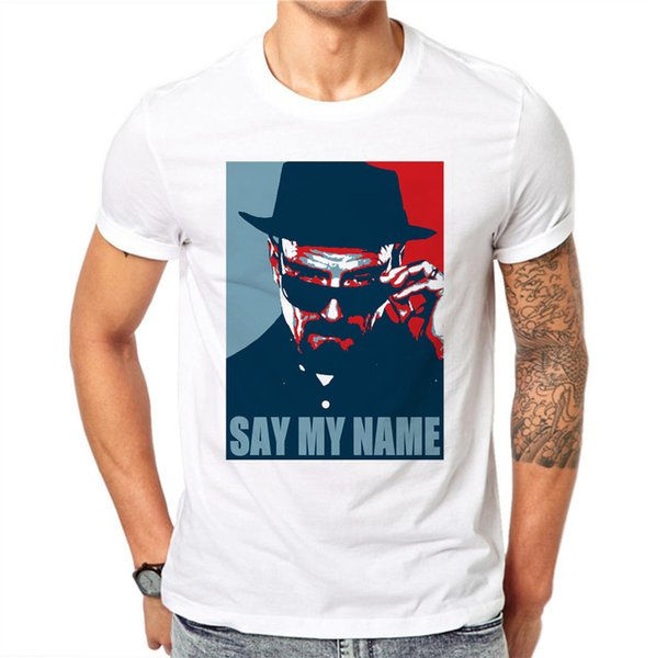 100% Cotton Summer Say My Name Design Men T Shirts Fashion Man Short Sleeve Tops Tees Clothes Xxxxl