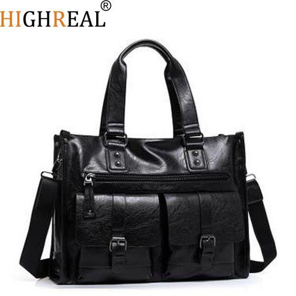 wholesale Fashion Men Handbag High Quality PU Leather Shoulder Bags Men Travel Bags Decorative Belt Male Bag