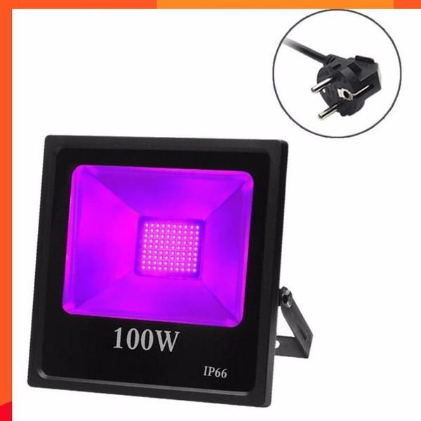 6pcs / lot UV Led Projecteur Ip66 30w 50w 80w 100w Ac85-265v Blacklights Pourpres Pour Dj Disco Boîtes De Nuit Ktv Effet D'éclairage De Scène
