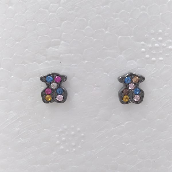 Bear Jewelry 925 Sterling Silver earrings Pendientes Fantasy De Plata Fits European Jewelry Style Gift 313673520