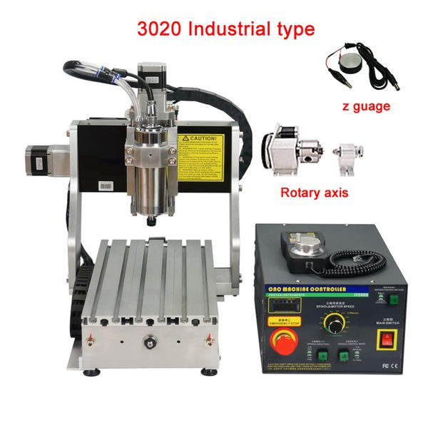 industrial cnc 3020 router 3axis 4axis carving engraving machine 800w for woodworking with limit switch ,handwheel and mach3