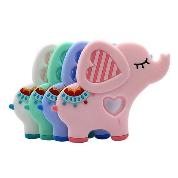 best selling Food Grade Silicone Teethers DIY Animal Elephant Baby Teether Infant Baby Silicone Charms Kids Teething Gift Toddler Toys