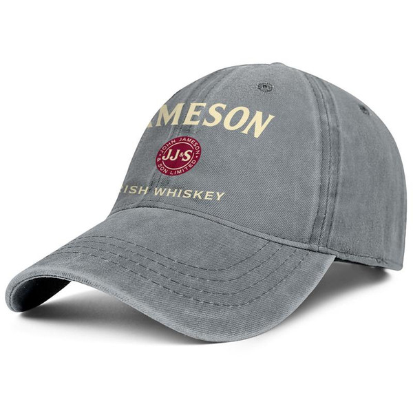 Womens Mens Washed Cap Hat Flat-along Adjustable Jameson Irish Whiskey Logo Punk Hip-Hop Cotton Sun Protection Hats Summer Travel Hats Milit