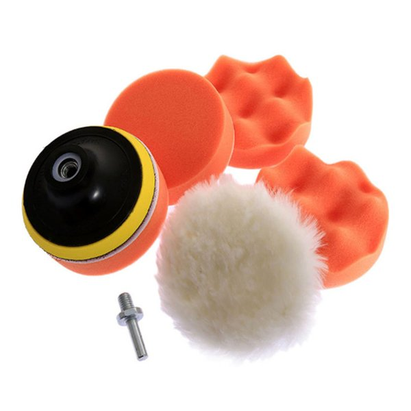 Car Sponge Polishing Disc Waxing Buffing Pads Set Tool Paint Care Car Wash Maintenance Accessories Supplies Products