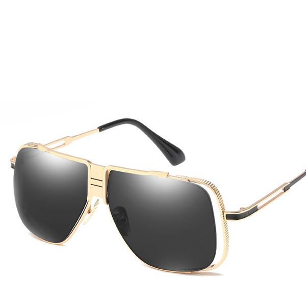 Golden Frame Men Luxury Sunglasses Good Quality Uv Protection Retro Glasses Fashion Outdoor Eyewear Street Popular Sunglasses