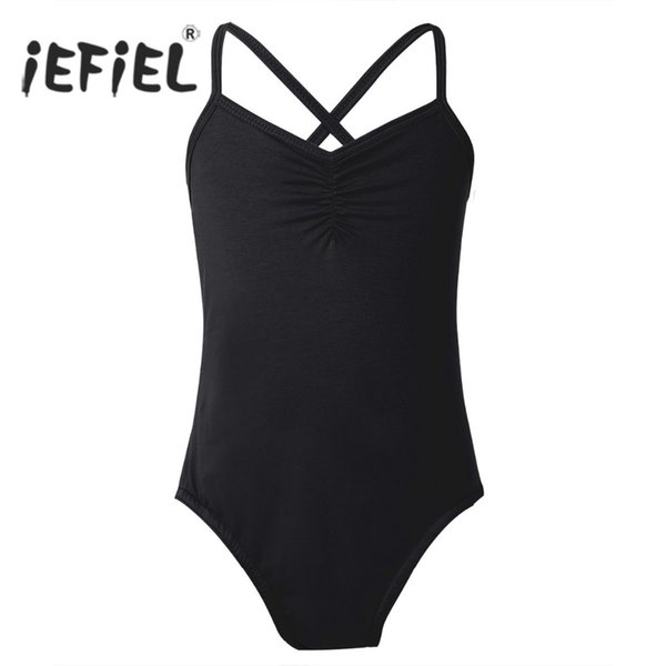 tutu iEFiEL Children Tutu Dress Swimsuit for Dancing Spaghetti Strap Criss Cross Ballet Dance Leotard for Girls Kids Bodysuit