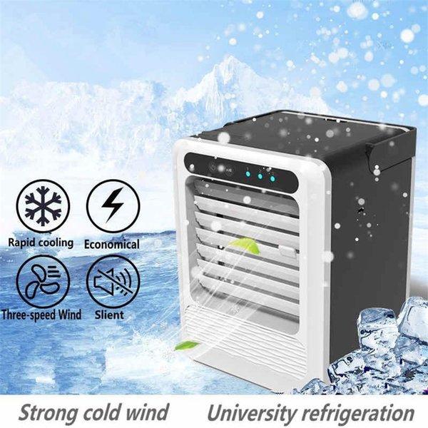 Klima Masaüstü Mini Fan USB Taşınabilir Elektrikli Fanlar Üçüncü Nesil Nemlendirici Arıtma Ile Güçlü Soğuk Rüzgar
