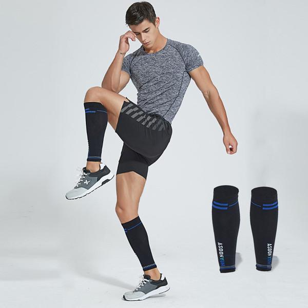 1pair Gym Sport Football Shin Guard Protector Soccer Honeycomb Anticrash Leg Calf Sleeve Compression Cycling Running Leg Warmers
